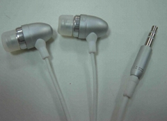 Metal earphone for Ipod, mp3/mp4 player