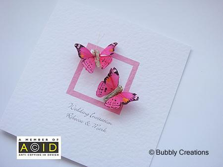 Wedding feather butterfly