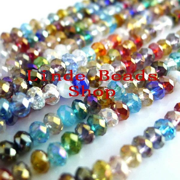 5040 crystal rondelle beads crystal abacus beads diy