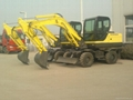 wheeled wheel full hydraulic,bucket,swing excavator 2