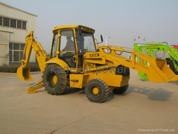 backhoe loader wheel excavator 2