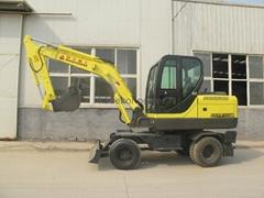wheeled wheel full hydraulic,bucket,swing excavator