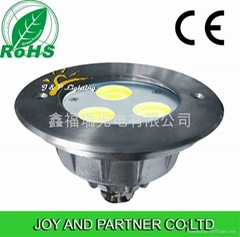 TrIcolor LED underwater swimming pool lights  304 or 316 stainless