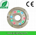 9W RGB LED fountain lights with IP68