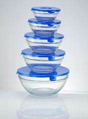 五件套玻璃保鲜碗