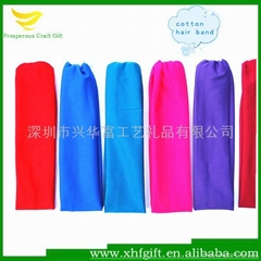 High quality colth stretch hair band for yoga