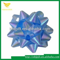 Manufacture sale pp ribbon bow,varous colored star bows