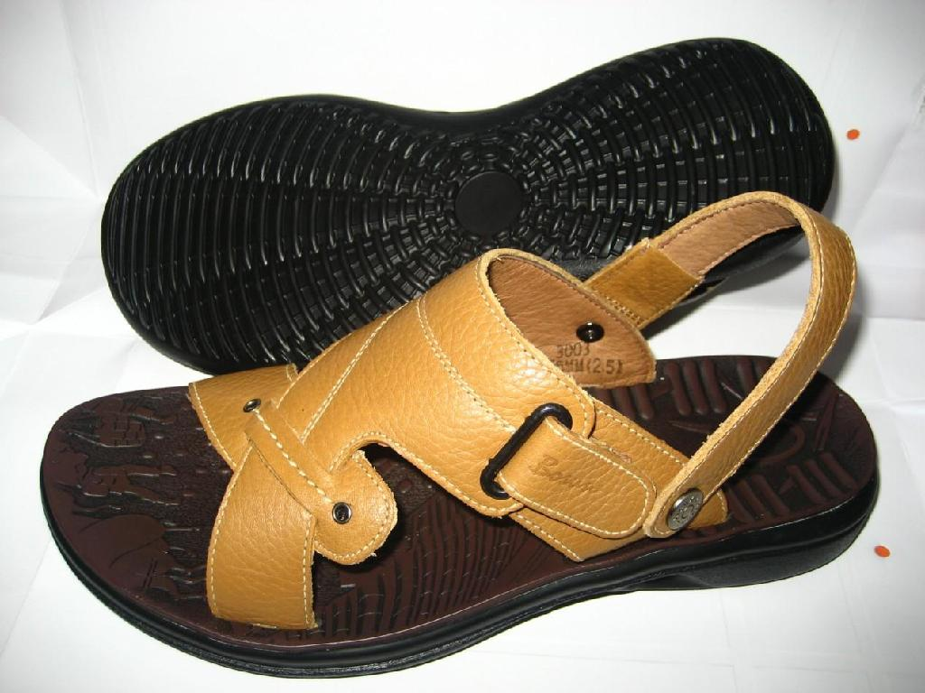 7f29055e8 Stock Genuine Leather Men s Sandals - HSM-002 (China) - Slippers ...