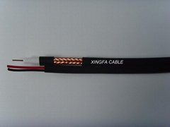 75ohm coaxial cable RG59 Siamese/composite