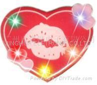 flashing badge/blinking badge/LED flash badge/flash badge
