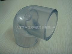 CLEAR  PVC  透明弯头