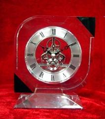 水晶鐘錶擺件