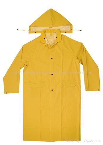 2 Piece Pvc Polyester Raincoat Rc022 Pvc Poly China
