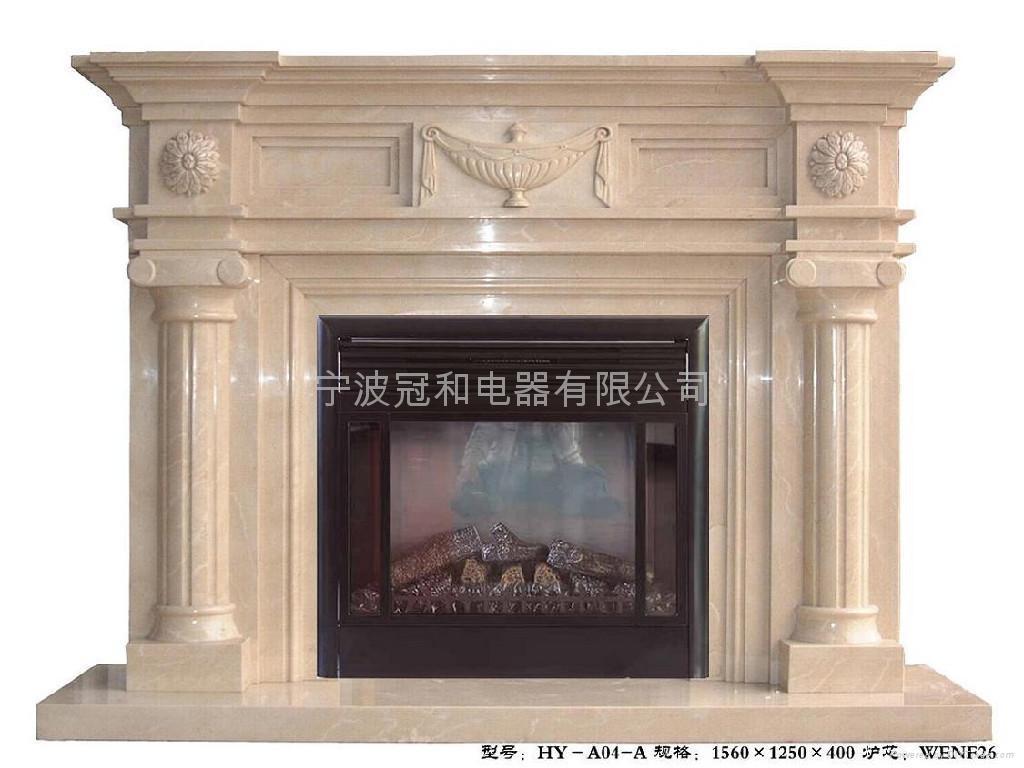 寶瓶羅馬柱大理石壁爐 2
