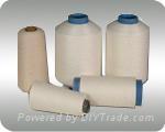 65%viscose +35%nylon twisted raw white yarn  1