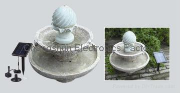 Solar fountain 3