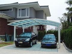 铝合金别墅车棚
