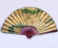 手繪中國書畫絹面扇子