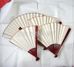 空白宣纸书画中国扇子