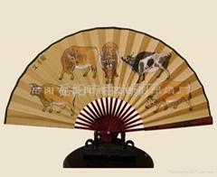 中國書畫絹面扇子|手繪扇|工藝扇|岳州扇