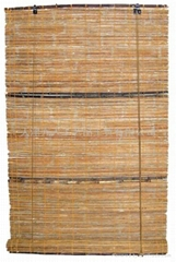 steam-dried reed blind with purple bamboo