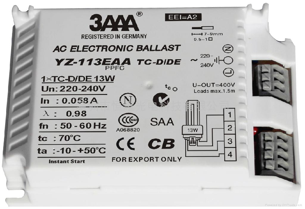 PLC (TC/TC-TE) 標準型電子鎮流器 1