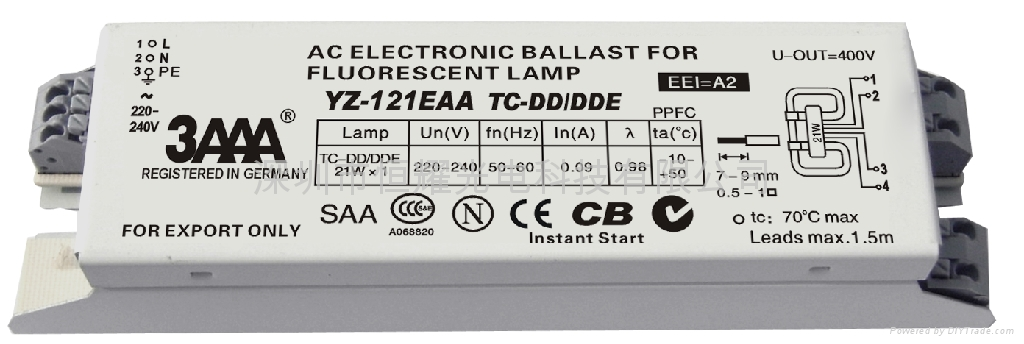 2D(TC-DD/DDE) Standard Electronic Ballast for Fluorescent Lamp - YZ ...