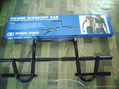 Chin Up Bar/ Chin Pull Up Bar/Iron door gym w/ AB Straps as seen on tv