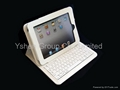 Best quality for iPad Bluetooth leather case  built-In keyboard