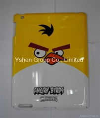 Hot cartoon angery birds / hello kitty plastic bumper case cover for ipad 2