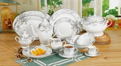 49 pcs super white dinnerware