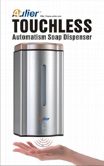 厂家供应奥乐红外线感应不锈钢自动给皂液机