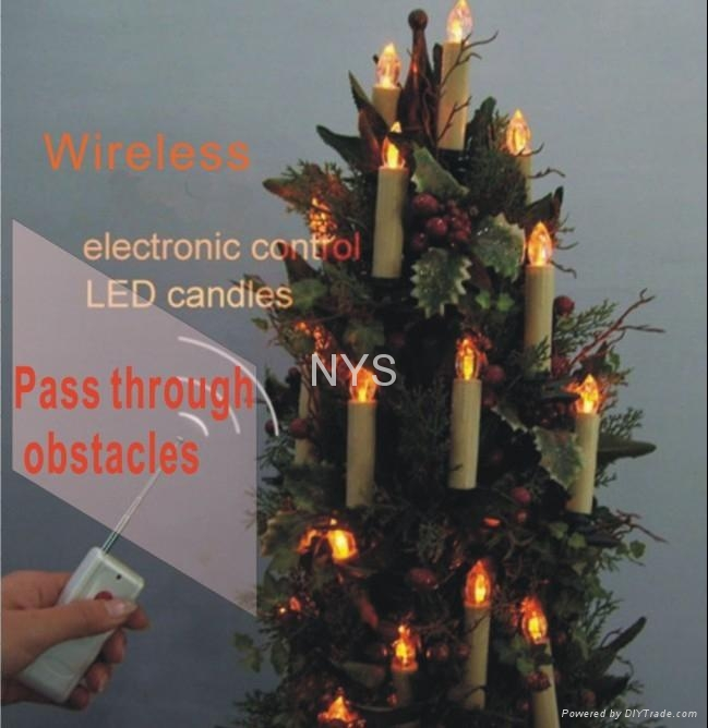 Wireless electronic Remote Control Christmas Candle LED light 1