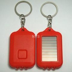 3 LED太阳能匙扣灯