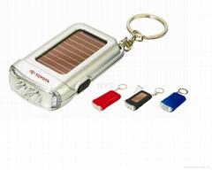 2 LED太阳能匙扣灯