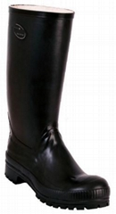 Safety rubber top boots