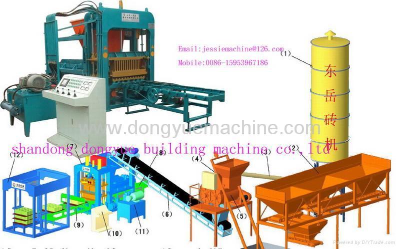 Qt4 15b hollow block machine color brick machine brick making machine