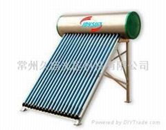 heat pipe solar energy water heater