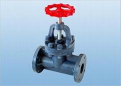 FRPP flanged globe valve