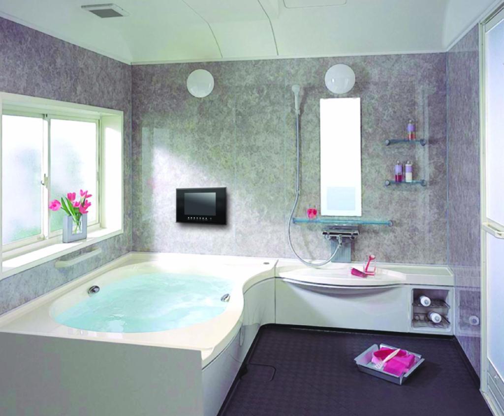 Bathroom waterproof lcd tv tw1502 wtv china for 15 bathroom lighting ideas 4 homes