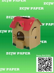 paper house,paper toy house,corruagated board house