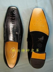 男士鸵鸟皮鞋