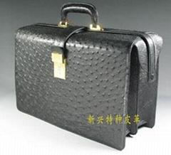 woman ostrich handbag