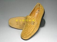 磨砂鸵鸟皮鞋