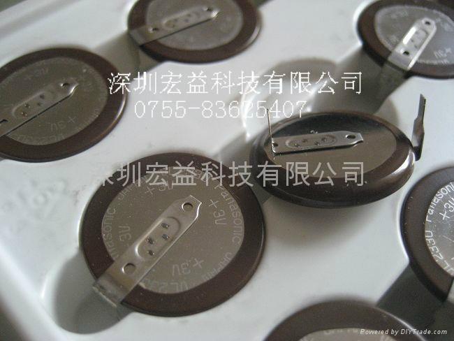 日本松下3V VL2330-1HF可充电纽扣锂电池(带焊脚) 1