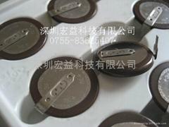 日本松下3V VL2330-1HF可充电纽扣锂电池(带焊脚)