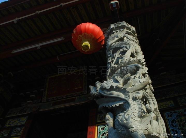 雙龍柱石雕 4
