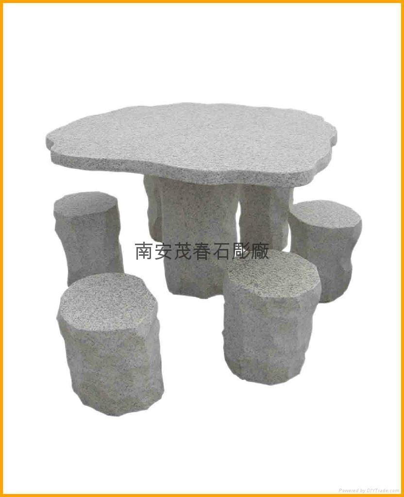 桌椅石雕 2