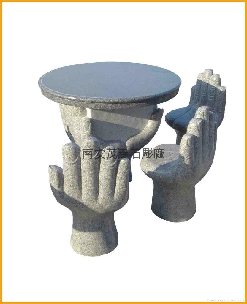 桌椅石雕 5