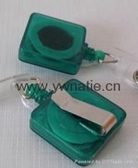 Square Plastic Badge Reel